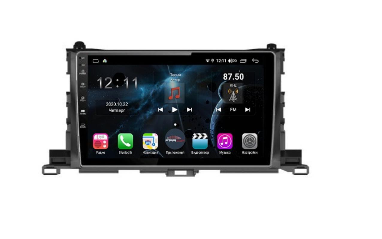 Штатная магнитола FarCar s400 для Toyota Highlander на Android (H467R) (+ Камера заднего вида в подарок!)