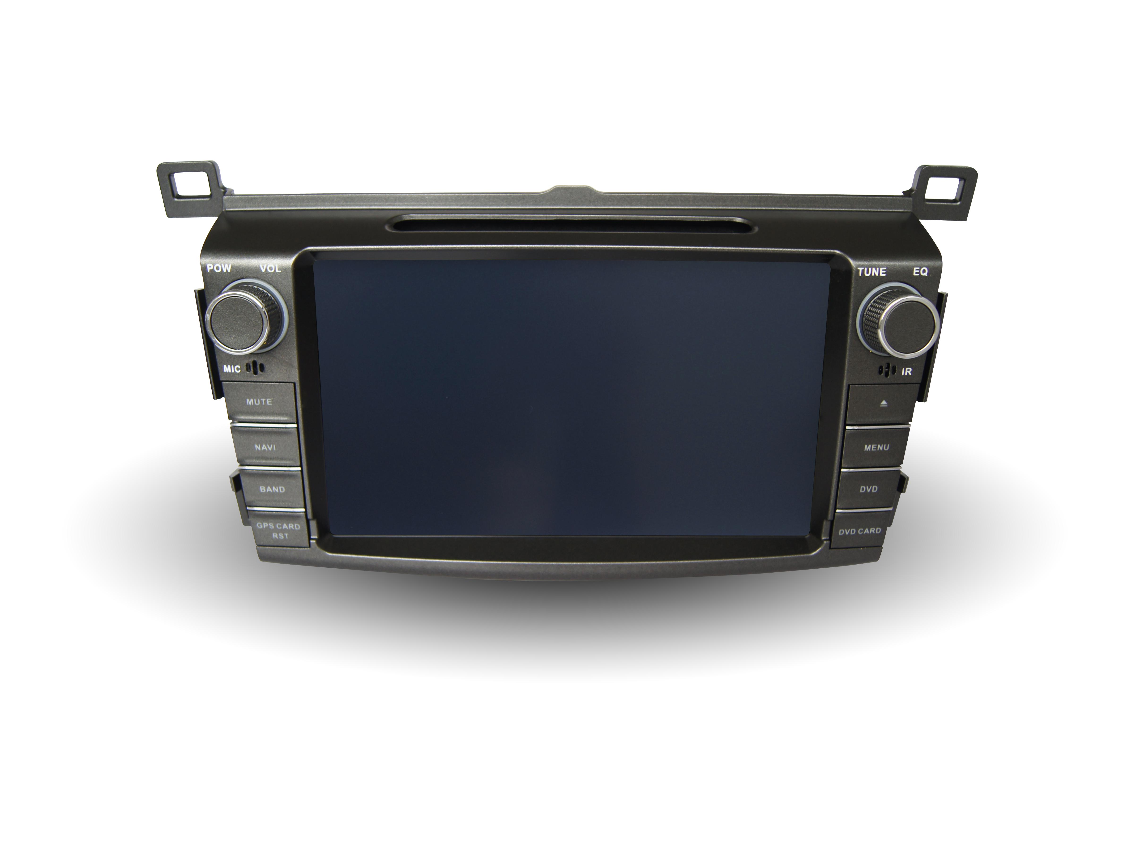 Штатная магнитола CARMEDIA QR-8045-T8 Toyota RAV4 2013+ (поддержка кругового обзора, усилителя, камеры, бк) на OC Android 7.1.2 / 8.1 штатная магнитола carmedia qr 9000 t8 toyota land cruiser prado 150 2013 2016 поддержка кругового обзора усилителя камеры бк на oc android 7 1 2 8 1