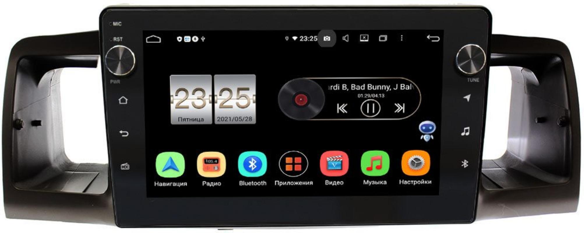 Штатная магнитола Toyota Corolla IX 2000-2007 LeTrun BPX409-9074 на Android 10 (4/32, DSP, IPS, с голосовым ассистентом, с крутилками) (+ Камера заднего вида в подарок!)