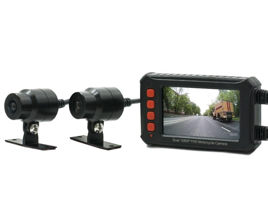 Двухканальный видеорегистратор AVS540DVR для мотоцикла / квадроцикла / снегохода (Full HD 1080P) (+ Разветвитель в подарок!) сцепление для мотоцикла sym zh125 a b xs125
