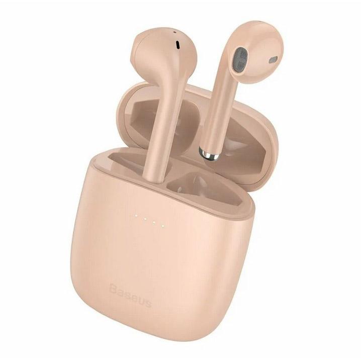 Беспроводные наушники Baseus Encok W04 Pro розовые