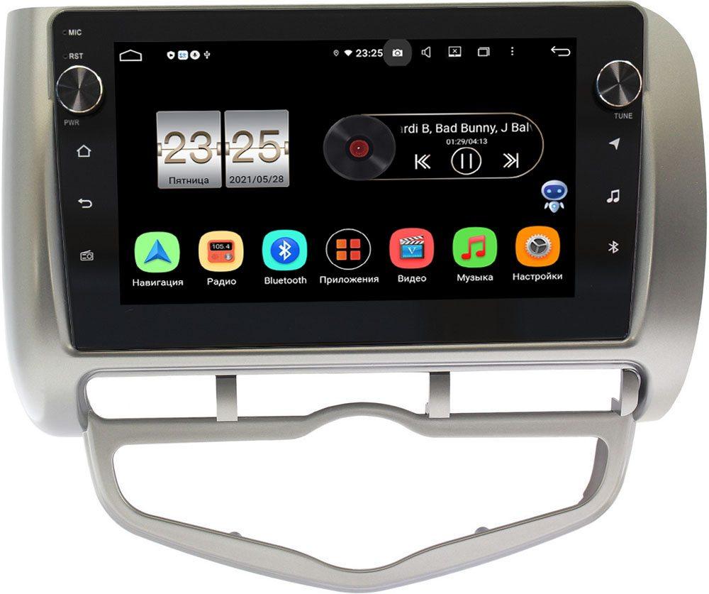 Штатная магнитола LeTrun BPX409-9095 для Honda Fit I 2001-2008 (правый руль) на Android 10 (4/32, DSP, IPS, с голосовым ассистентом, с крутилками) (+ Камера заднего вида в подарок!)