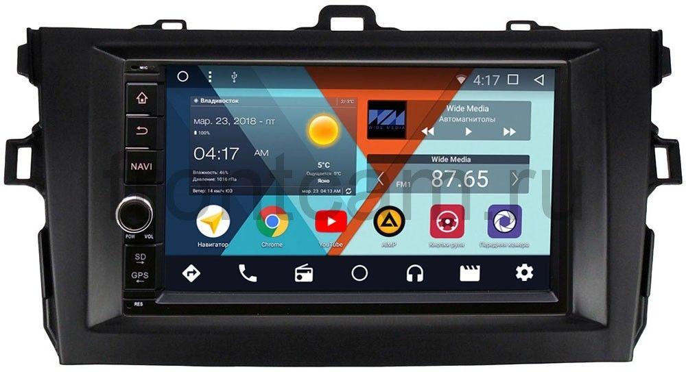 Штатная магнитола Wide Media WM-VS7A706NB-2/16-RP-TYCV14XB-47 для Toyota Corolla X 2006-2013 Android 7.1.2 штатная магнитола wide media wm vs7a706nb rp bmx5c 21 для bmw 7 e38 5 e39 m5 e39 x5 e53 android 7 1 2