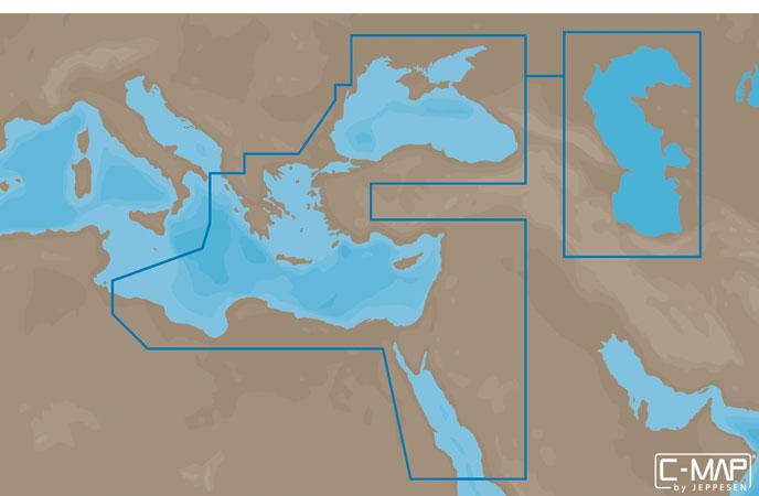 Карта C-MAP EM-N111 - Черное и Каспийское море, часть Средиземного моря