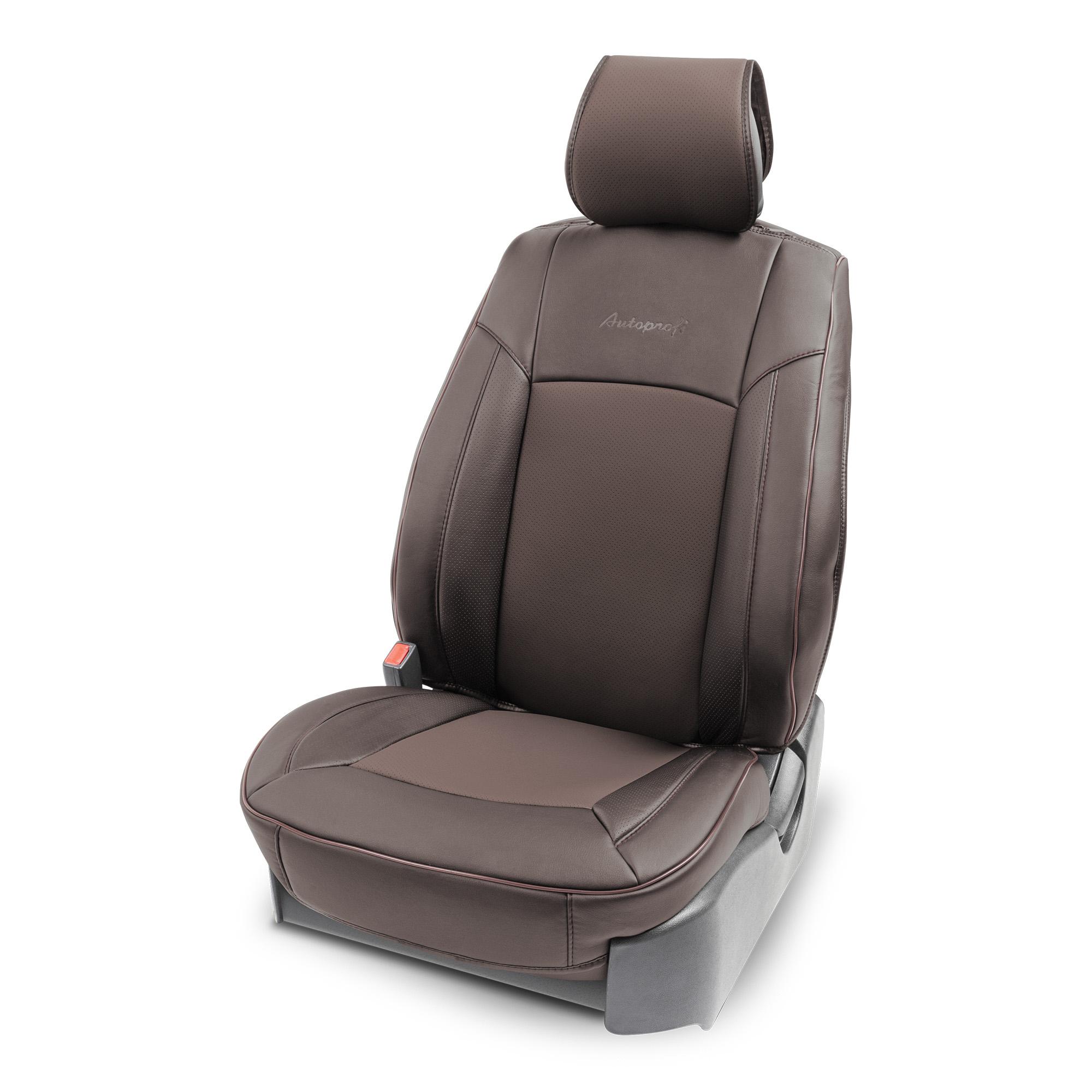 цена на Накидка на сиденье каркасная AUTOPROFI экокожа HIT-310G BR