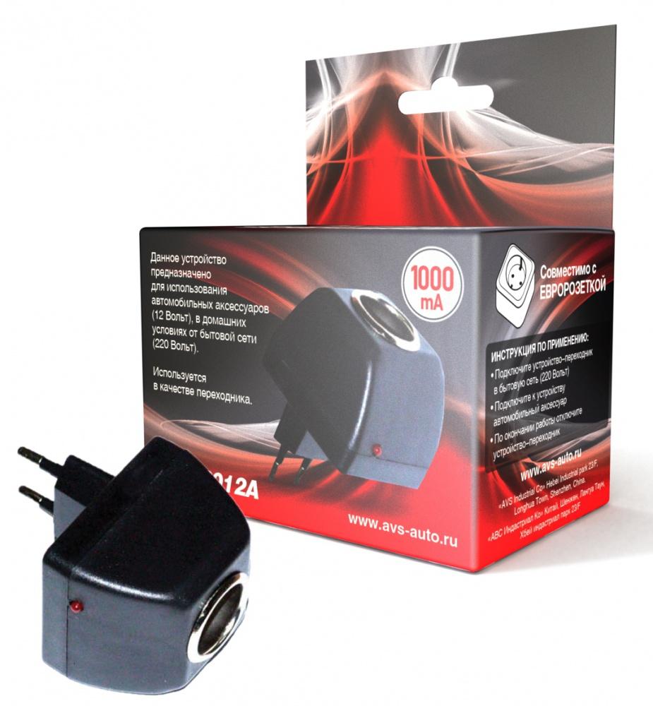 Фото - Адаптер сетевой для автоприборов AVS AD-22012A (220>12В, 1А) авто