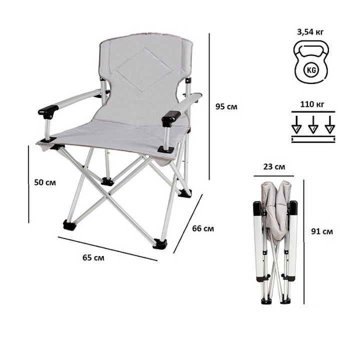 Кресло складное Green Glade 2306 (+ Антисептик-спрей для рук в подарок!) фото 3