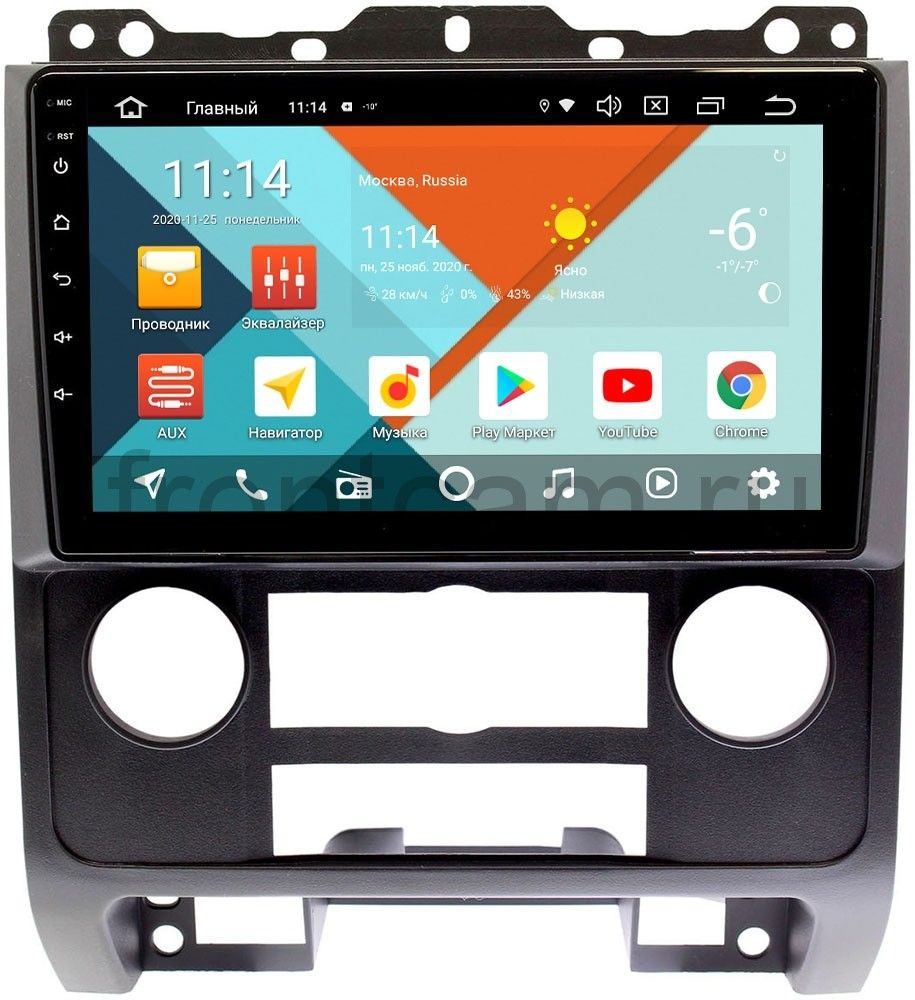 Штатная магнитола Ford Escape II 2007-2012 (черная) Wide Media KS9279QR-3/32 DSP CarPlay 4G-SIM на Android 10 (+ Камера заднего вида в подарок!)