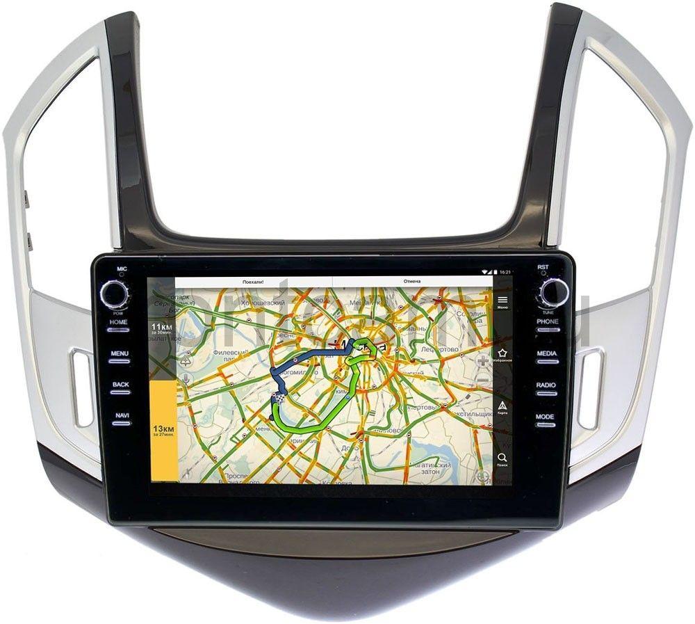 Штатная магнитола LeTrun 3150-9265 для Chevrolet Cruze I 2012-2015 (черно-серый глянец) на Android 10 (DSP 2/16 с крутилками) (+ Камера заднего вида в подарок!)