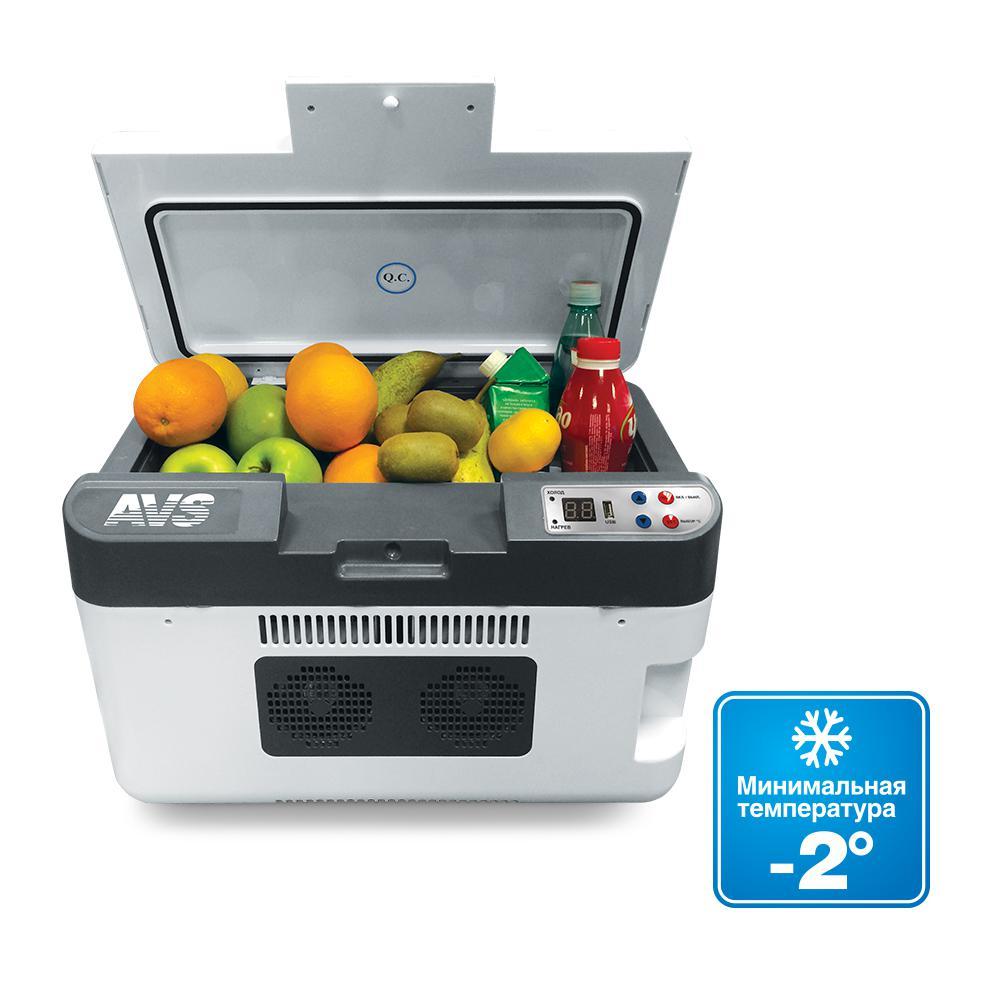 цена на Термоэлектрический автохолодильник AVS CC-24WBC (24л, 12/24/220В, USB)