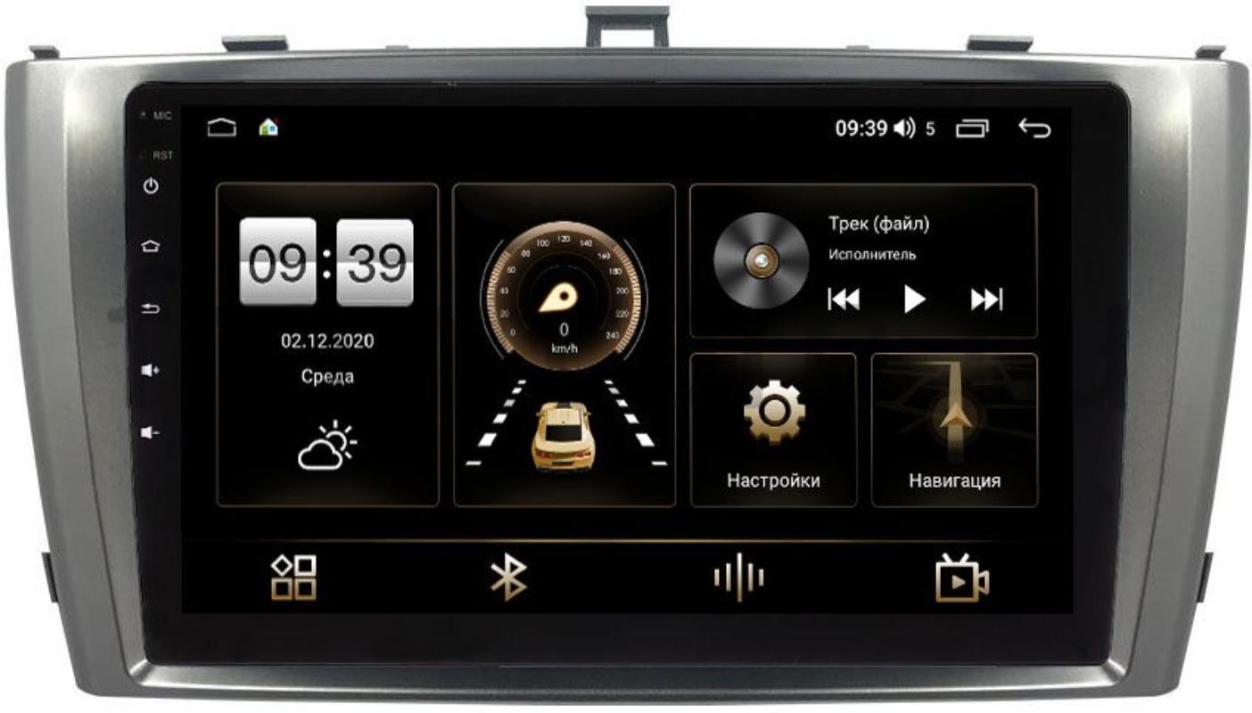 Штатная магнитола LeTrun 3792-9-3017 для Toyota Avensis III 2009-2015 (серебро) на Android 10 (4/64, DSP, QLed) С оптическим выходом (+ Камера заднего вида в подарок!)