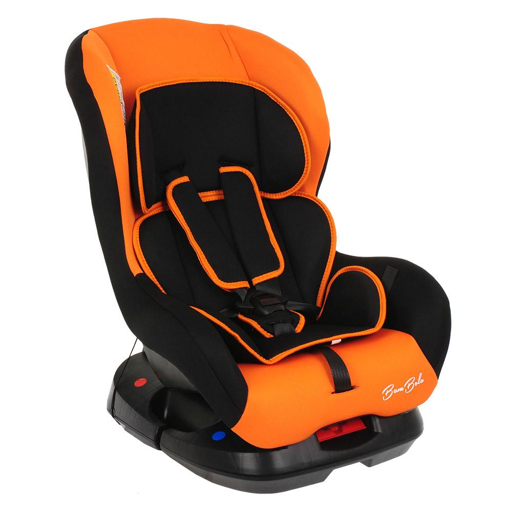 Фото - Автокресло BAMBOLA BAMBINO Черный/Оранжевый (+ Солнцезащитные шторки в подарок!) автокресло группа 0 1 до 18 кг bambola bambino черный синий