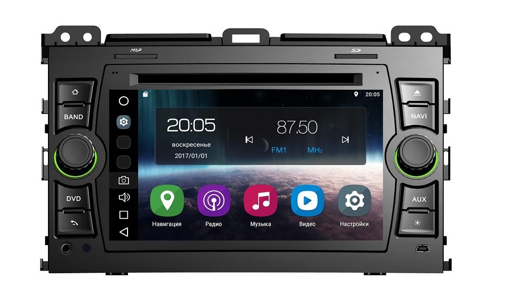 Штатная магнитола FarCar s200+ для Toyota Land Cruiser Prado 120 на Android (A456) (+ Камера заднего вида в подарок!) цена 2017
