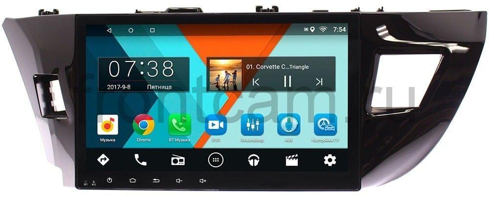 Штатная магнитола Toyota Corolla XI 2013-2015 Wide Media MT1026MF-1/16 на Android 7.1.1 (для авто с камерой) (+ Камера заднего вида в подарок!)