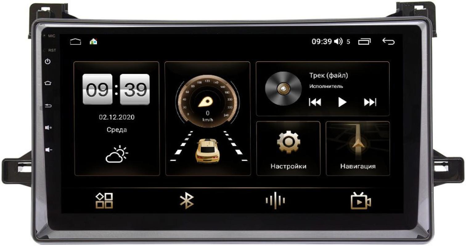 Штатная магнитола LeTrun 3792-9-651 для Toyota Prius IV (XW50) 2015-2021 (черный глянец) на Android 10 (4/64, DSP, QLed) С оптическим выходом (+ Камера заднего вида в подарок!)