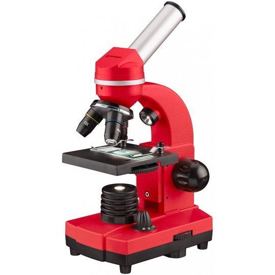 Фото - Микроскоп Bresser Junior Biolux SEL 40–1600x, красный (+ Книга «Невидимый мир» в подарок!) микроскоп bresser erudit dlx 40–600x