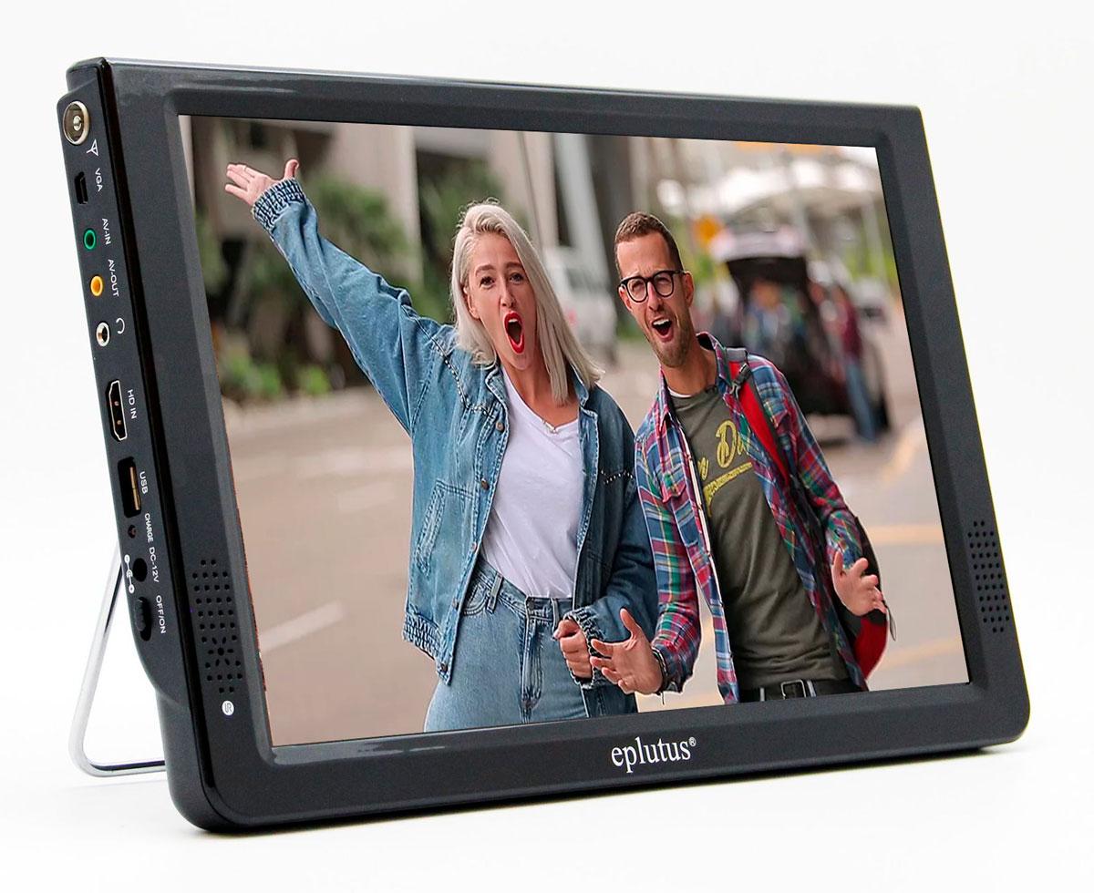Автомобильный телевизор Eplutus EP-124T (+ Разветвитель в подарок!) автомобильный телевизор eplutus ep 900t