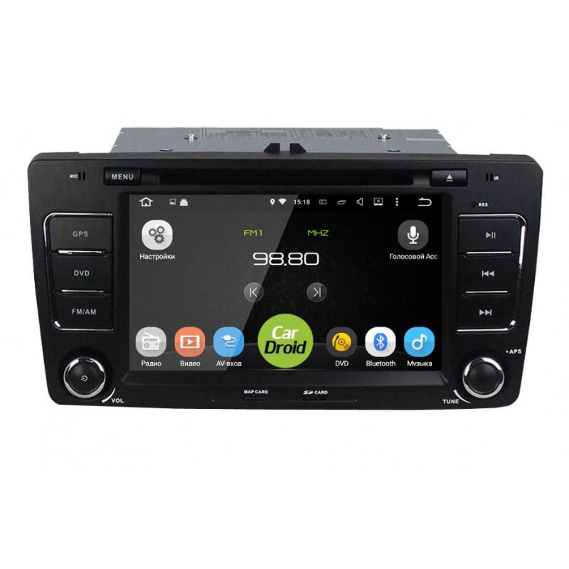 Штатная магнитола Roximo CarDroid RD-3202D для Skoda Octavia 2, A5 (Android 8.0) DSP (+ Камера заднего вида в подарок!)
