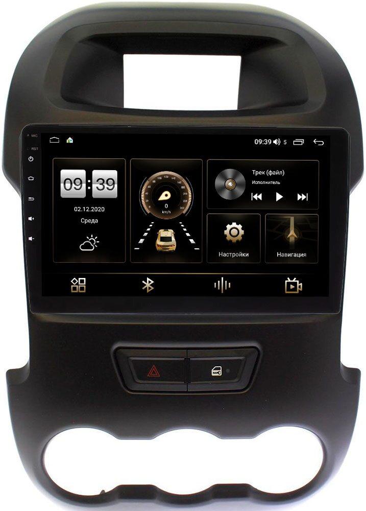 Штатная магнитола Ford Ranger III 2012-2015 LeTrun 3792-9165 на Android 10 (4/64, DSP, QLed) С оптическим выходом (+ Камера заднего вида в подарок!)