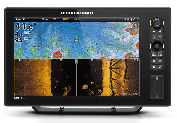 Эхолот картплоттер Humminbird SOLIX 12 Chirp Mega Si GPS