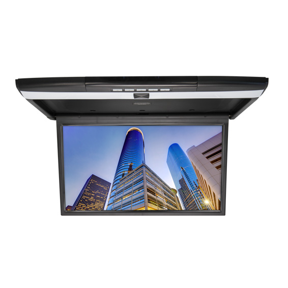 Автомобильный потолочный монитор 17.3 с медиаплеером FarCar-Z002 (черный) (+ Двухканальные наушники в подарок!)