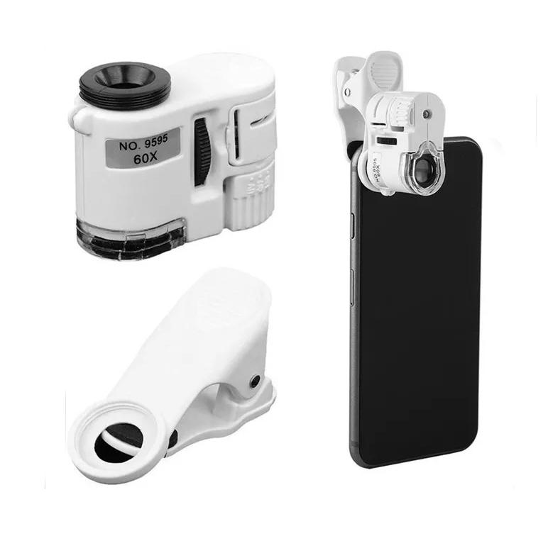 Фото - Микроскоп Kromatech 60x мини, с подсветкой (1 LED) и ультрафиолетом (9595W) (+ Автомобильные коврики в подарок!) микроскоп