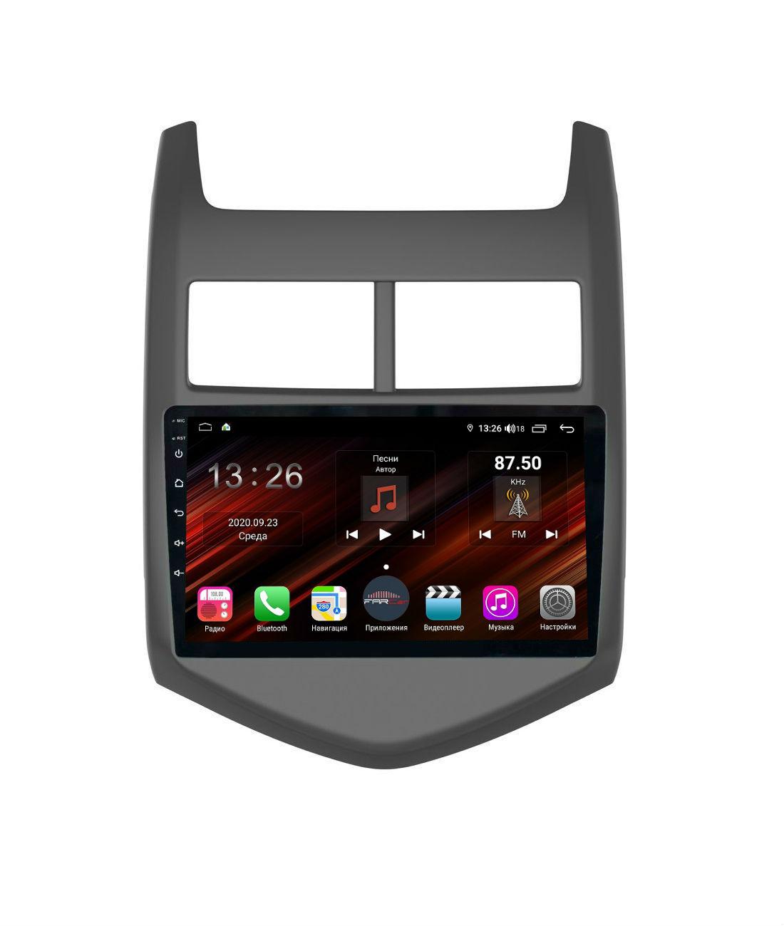 Штатная магнитола FarCar s400 Super HD для Chevrolet Aveo на Android (XH107R) (+ Камера заднего вида в подарок!)