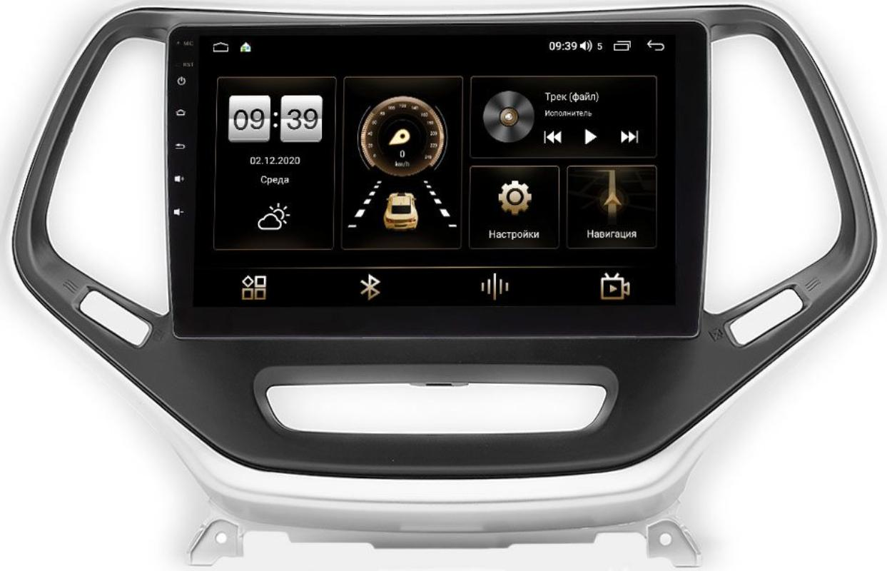 Штатная магнитола Jeep Cherokee V (KL) 2013-2021 LeTrun 4195-10-811 на Android 10 (6/128, DSP, QLed) С оптическим выходом (+ Камера заднего вида в подарок!)