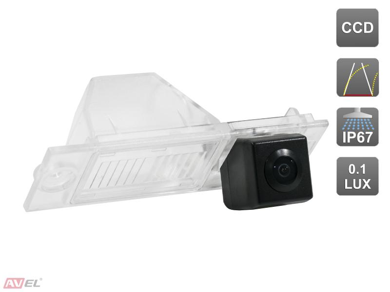 Штатная камера заднего вида c динамической разметкой Avis AVS326CPR (#180) для HYUNDAI TUCSUN III (2015-...)