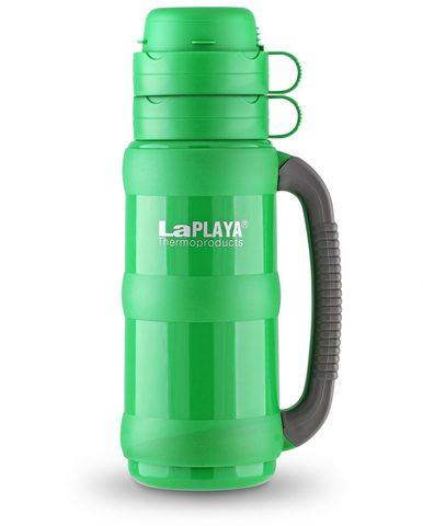Термос LaPlaya Traditional 35-50 (0,5 литра) со стеклянной колбой, зеленый (+ Антисептик-спрей для рук в подарок!) 560004