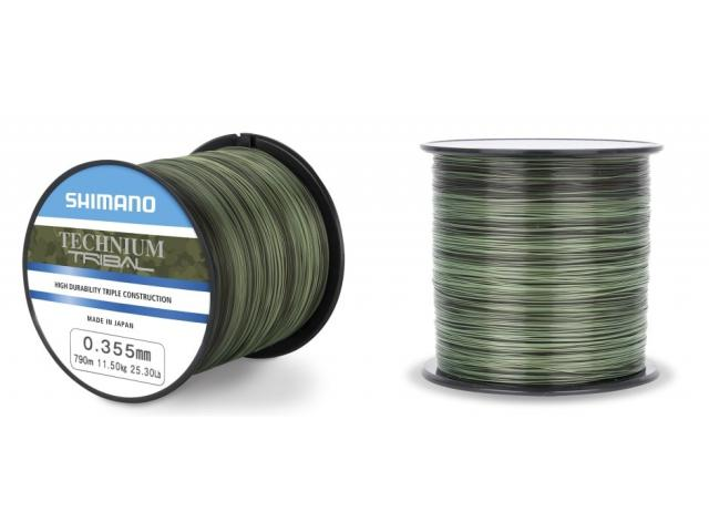Леска SHIMANO Technium Trib 790м комуф. зеленая 0.355мм PB 11.5кг.