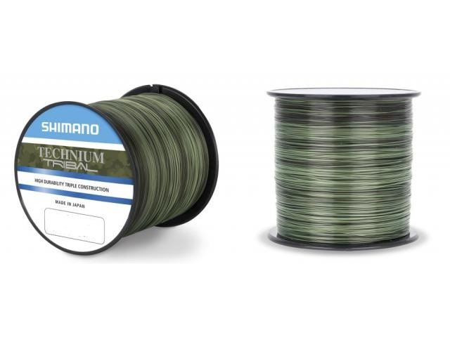Леска SHIMANO Technium Trib 1250м комуф. зеленая 0.285мм PB 7.5кг.
