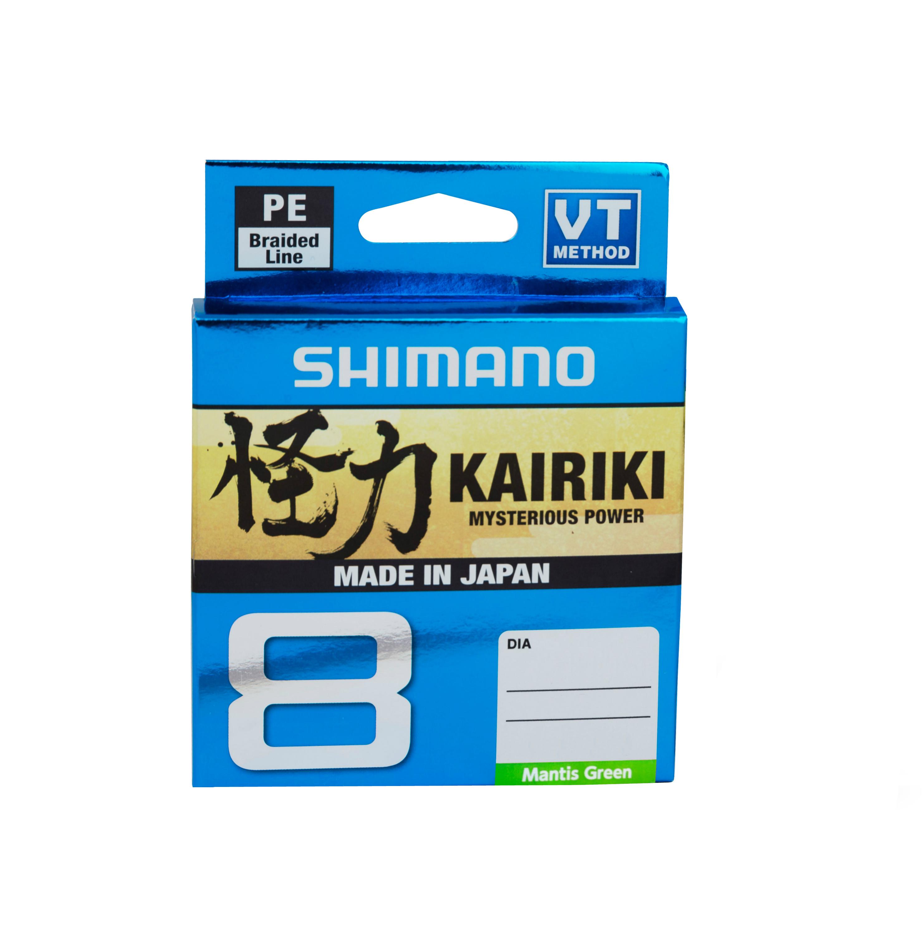 Леска плетёная SHIMANO Kairiki 8 PE 150м зеленая 0.280mm/29kg ash ash 35699 35699