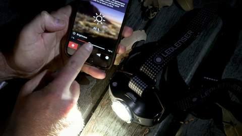 Фонарь светодиодный налобный LED Lenser MH11, черно-оранжевый, 1000 лм, аккумулятор