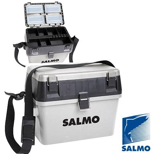 Фото - Ящик рыболовный зимний Salmo 2-х ярус.(из 2-х частей) пласт. 38x24.5x29см сер. 10 из 2 х частей белый