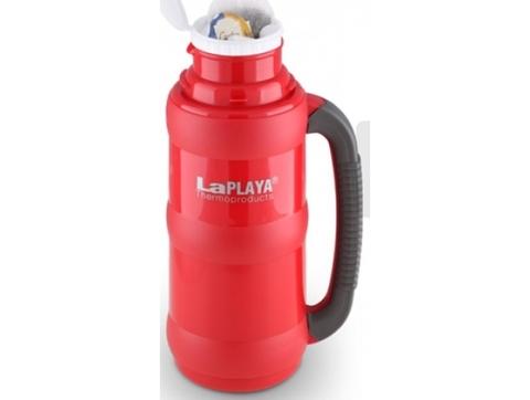 Термос LaPlaya Traditional 35-50 (0,5 литра) со стеклянной колбой, красный (+ Антисептик-спрей для рук в подарок!) 560003