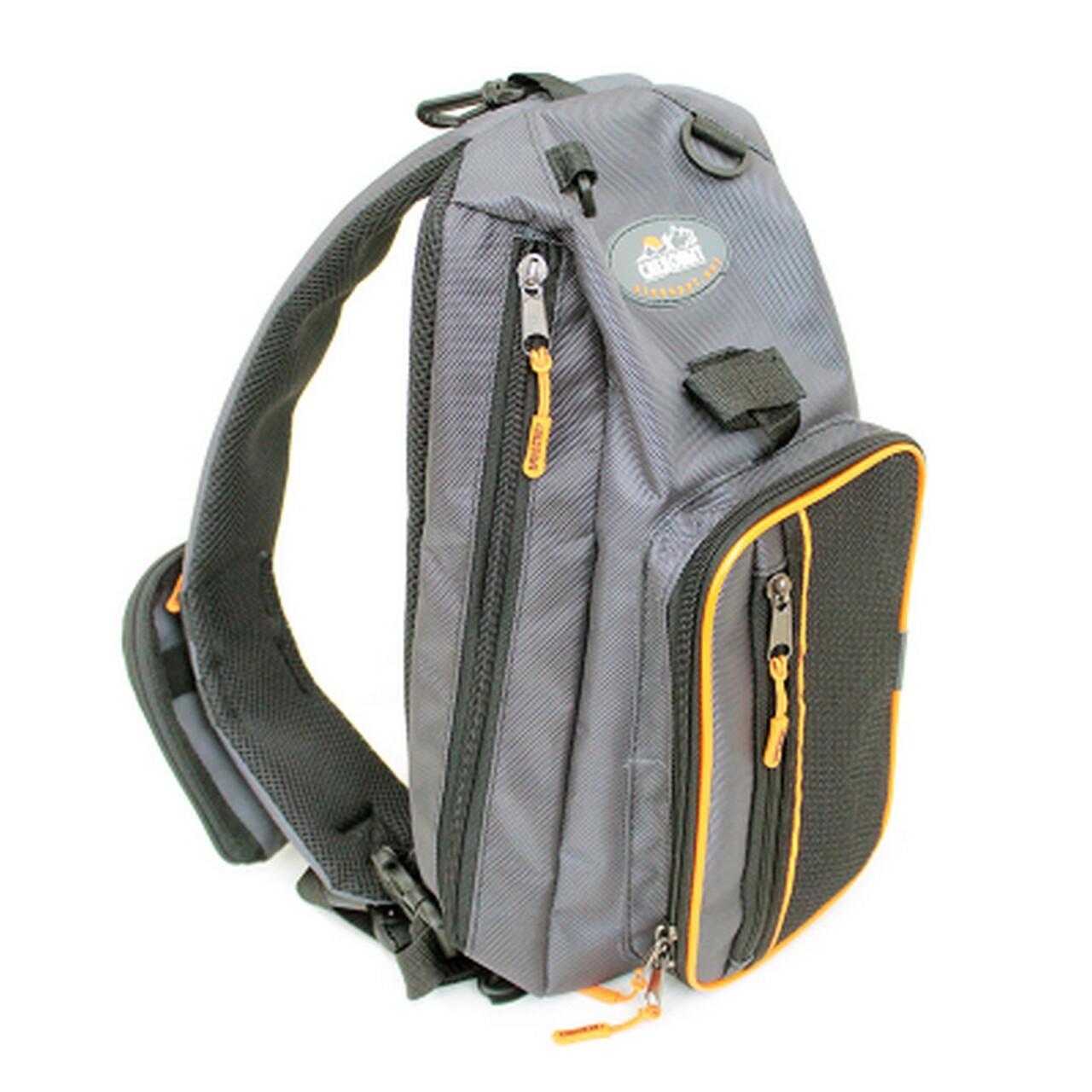 """Сумка-рюкзак рыболовная """"СЛЕДОПЫТ"""" Sling Shoulder Bag, 44х24х17 см, цв. серый"""