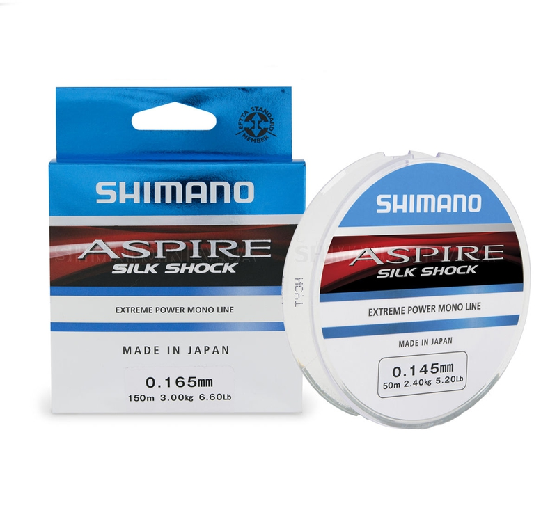 Леска зимняя SHIMANO Aspire Silk S Ice 50м прозрачная 0,145мм 2,45кг