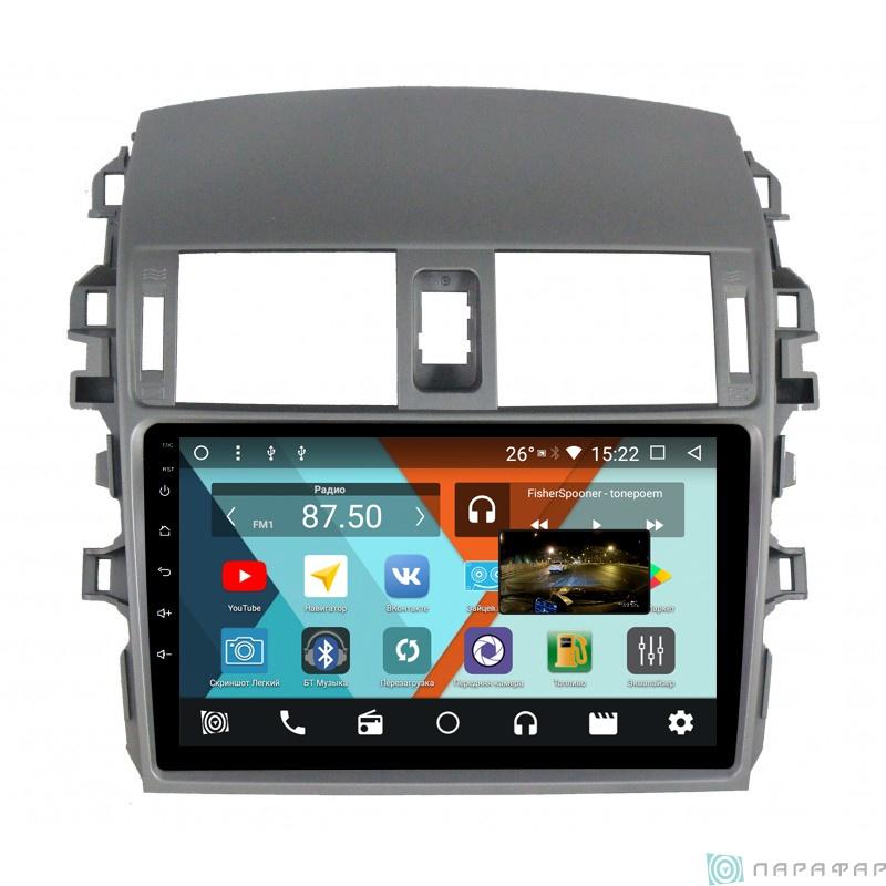 Штатная магнитола Parafar с IPS матрицей для Toyota Corolla 2007-2012 на Android 8.1.0 (PF974K) штатная магнитола intro chr 2276 td toyota tundra sequoia