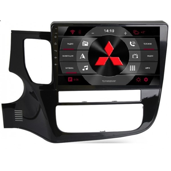 """Головное устройство Subini MSB101 с экраном 10,2"""" для Mitsubishi Outlander III 2012 + (+ Камера заднего вида в подарок!)"""
