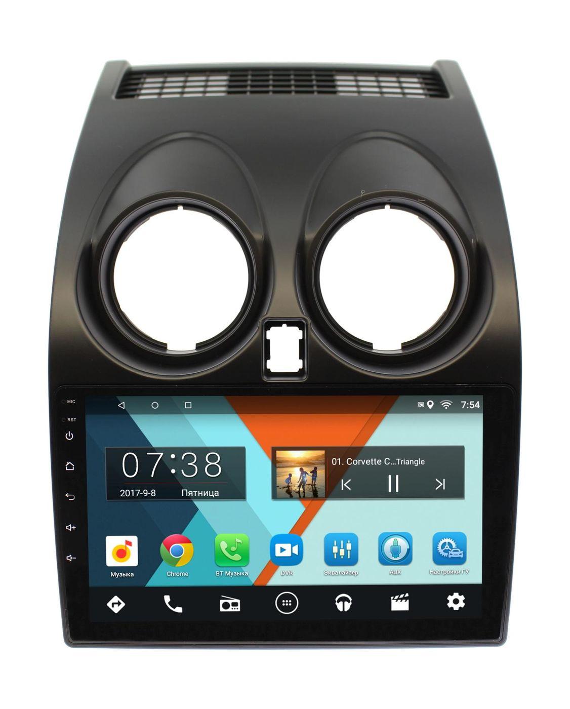 Штатная магнитола Wide Media MT9007MF для Qashqai I 2007-2013 на Android 6.0.1