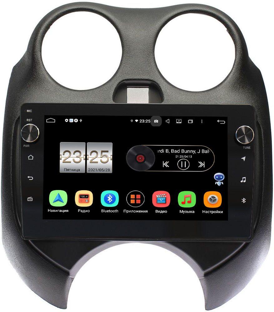 Штатная магнитола LeTrun BPX609-9100 для Nissan March IV (K13) 2010-2013 на Android 10 (4/64, DSP, IPS, с голосовым ассистентом, с крутилками) (+ Камера заднего вида в подарок!)