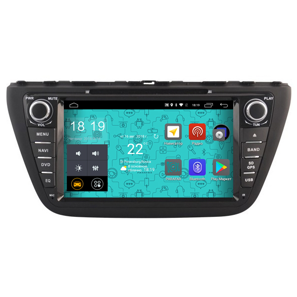 Штатная магнитола Parafar 4G/LTE с IPS матрицей для Suzuki SX4, S-Cross 2013-2016 на Android 7.1.1 (PF985D) geekbox open source cross android