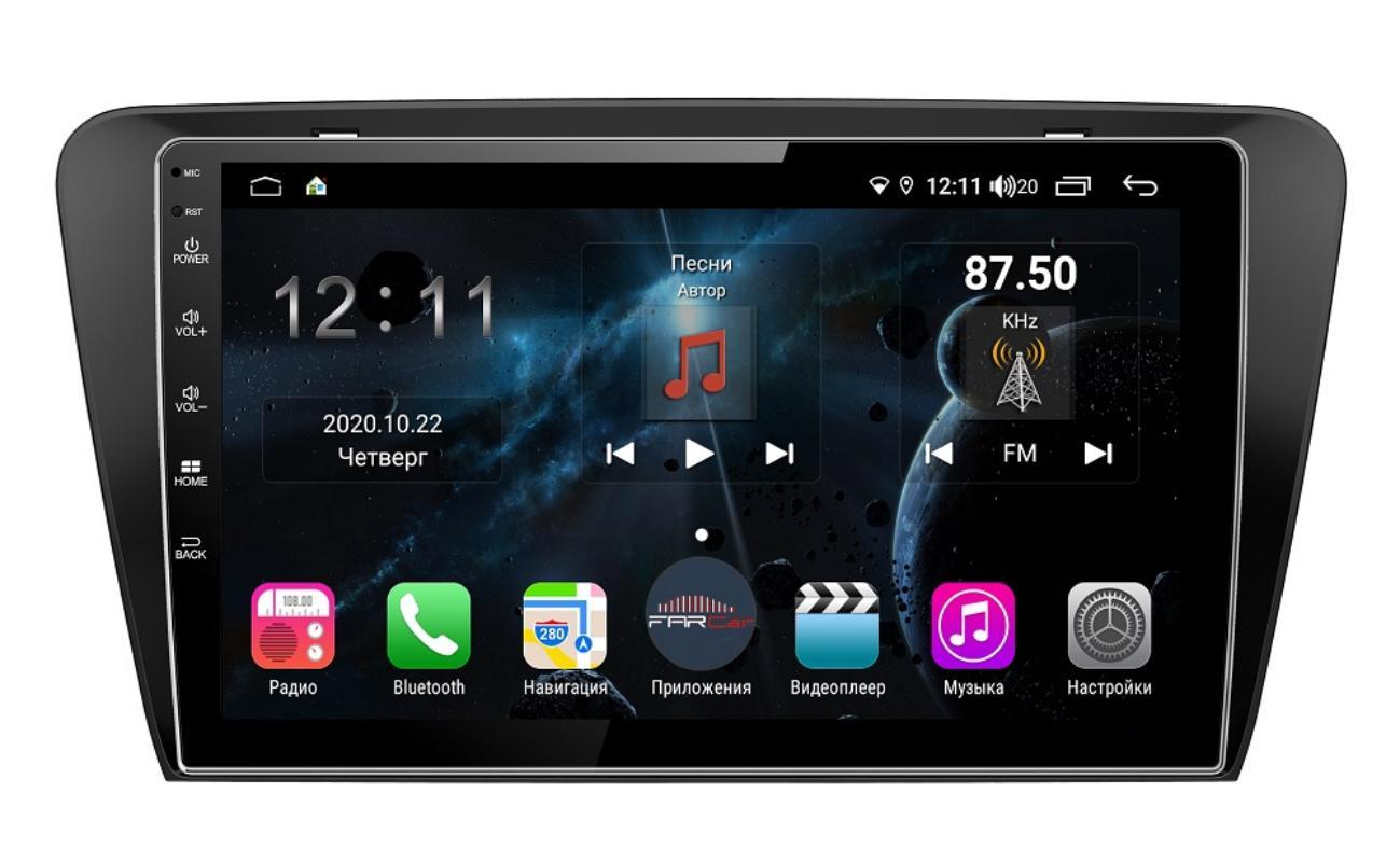 Штатная магнитола FarCar s400 для Skoda Octavia A7 на Android (H483R) (+ Камера заднего вида в подарок!)