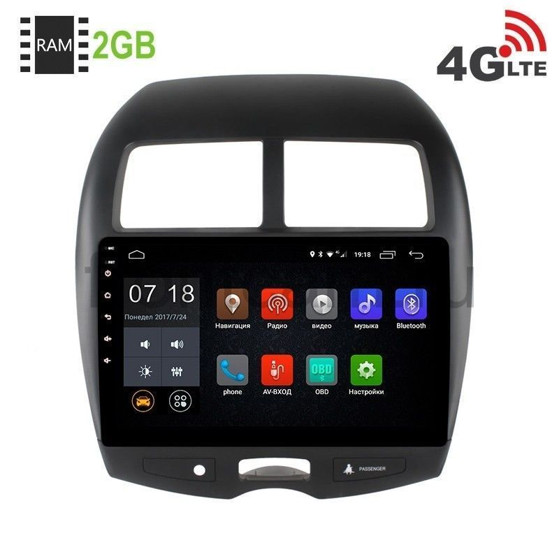 Штатная магнитола LeTrun 1884 для Mitsubishi ASX Android 6.0.1 4022d car radio music player with rear view camera support bluetooth mp5 mp4 mp3 fm transmitter car video with remote control