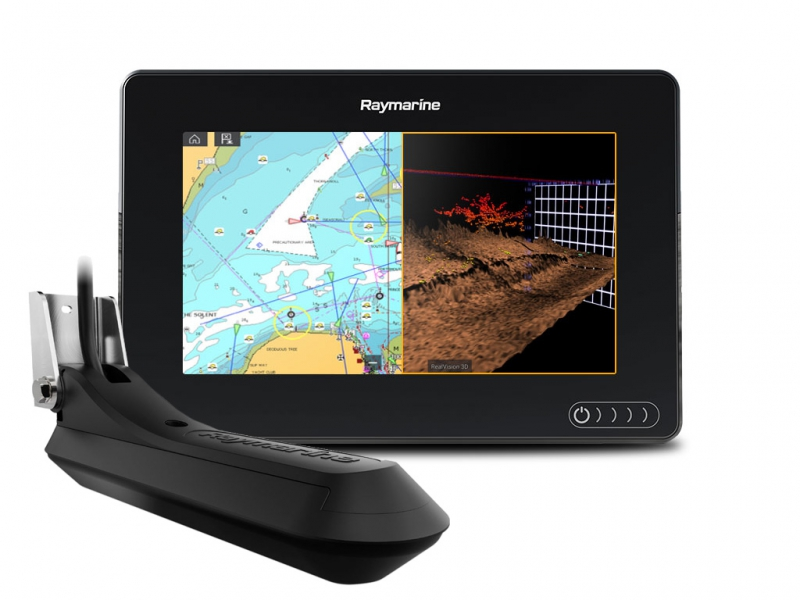 Raymarine AXIOM 7 RV, Multi-function 7 Display with RealVision 3D, 600W Sonar with RV-100 transducer (+ Аккумулятор + З/У + Струбцина + Приманки)