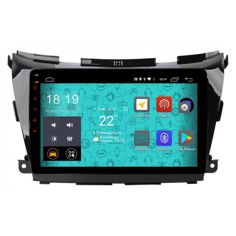 Штатная магнитола Parafar 4G/LTE с IPS матрицей для Nissan Murano 3, Z52 на Android 7.1.1 (PF979) unlocked netger 4g 150mbps sierra wireless router aircard 770s 4g lte mobile wifi hotspot dongle 4g pocket wifi