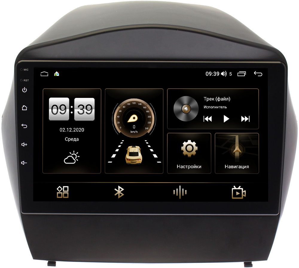 Штатная магнитола Hyundai ix35, Tucson II 2011-2015 (для авто без камеры) LeTrun 3792-9088 на Android 10 (4/64, DSP, QLed) С оптическим выходом (+ Камера заднего вида в подарок!)