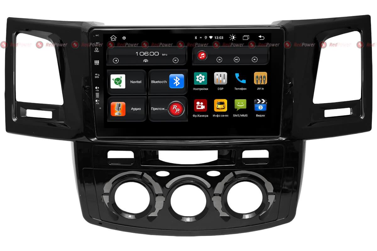 Автомагнитола для Toyota Fortuner, Hilux (2005-2015) RedPower 61269 (+ Камера заднего вида в подарок!)