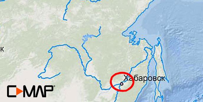 Карта C-MAP RS-N508 - Хабаровск